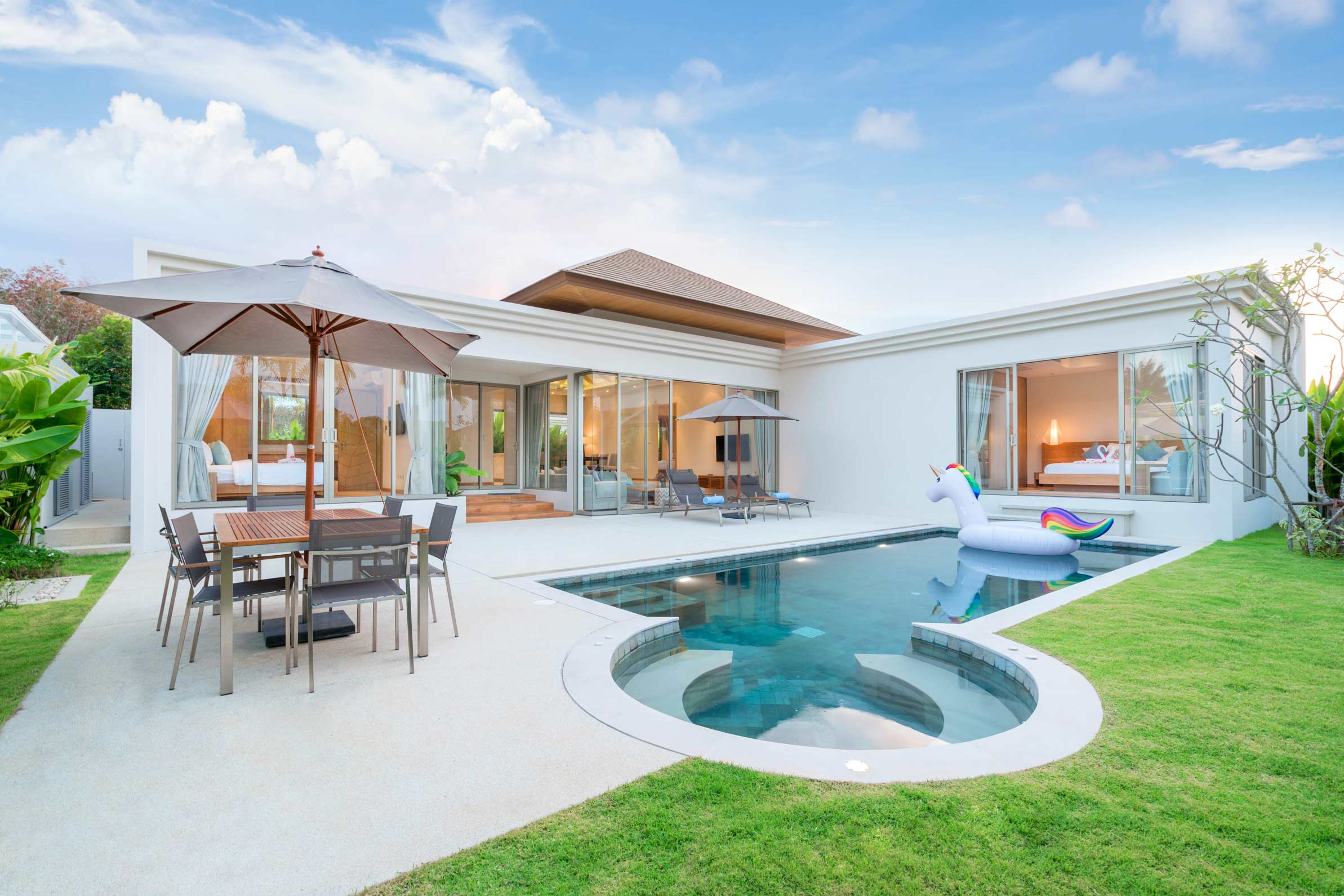 modern home with paving in mackay